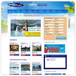 Webové stránky cestovní agentury Boskotour