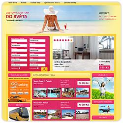 Webové stránky cestovní agentury Do Světa